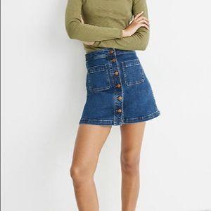 MADEWELL Stretch Denim A-Line Jean Mini Skirt